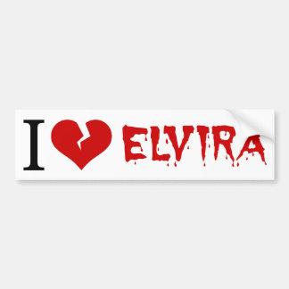 I Liebe Elvira defektes Herz Autoaufkleber