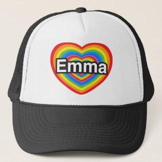 I Liebe Emma. Liebe I Sie Emma. Herz Truckerkappe