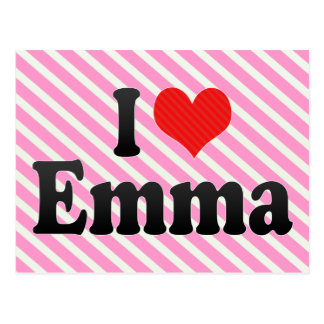 I Liebe Emma Postkarte