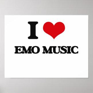 I Liebe EMO MUSIK Plakatdruck