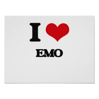 I Liebe EMO Posterdruck