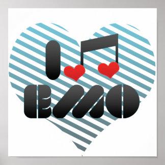I Liebe Emo Plakat