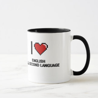 I Liebe-Englisch als Digital-Entwurf A zweites Tasse