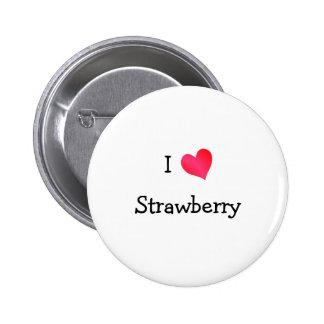 I Liebe-Erdbeere Buttons