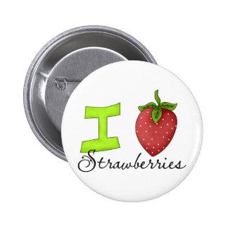 I Liebe-Erdbeeren Anstecknadel