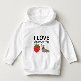 I Liebe-Erdbeerillustration Hoodie
