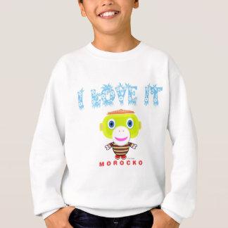 I Liebe Es-Niedlicher Affe-Morocko Sweatshirt