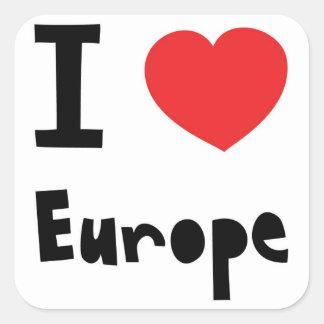 I Liebe Europa Quadratischer Aufkleber