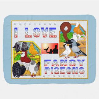 I Liebe-extravagante Tauben! Kinderwagendecke