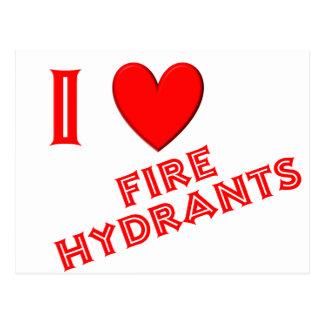 I Liebe-Feuer-Hydranten Postkarte