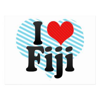 I Liebe Fidschi Postkarte