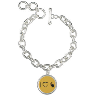 I Liebe-Fingerabdruck-Kennzeichen Armbänder