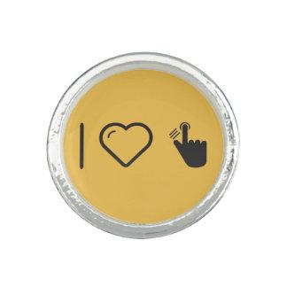 I Liebe-Fingerabdruck-Kennzeichen Ringe