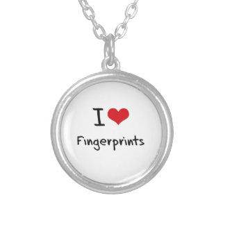 I Liebe-Fingerabdrücke Personalisierter Schmuck