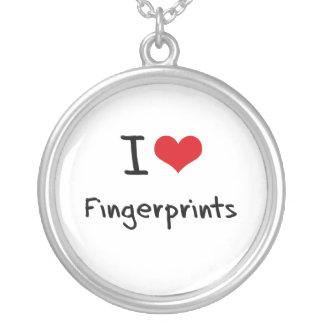 I Liebe-Fingerabdrücke Halskette