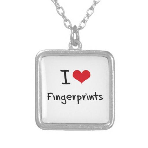 I Liebe-Fingerabdrücke Halsketten