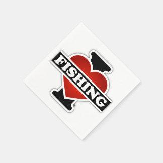 I Liebe-Fischerei Papierserviette