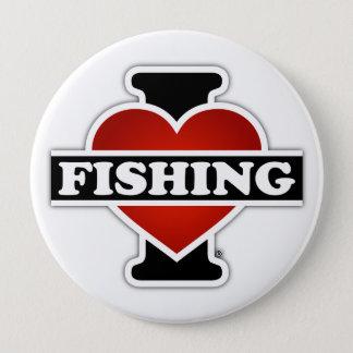 I Liebe-Fischerei Runder Button 10,2 Cm