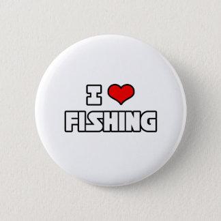 I Liebe-Fischerei Runder Button 5,1 Cm