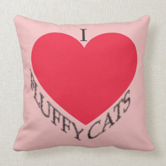I Liebe-flaumige Katzen Kissen