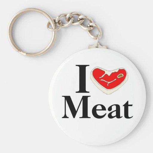 I Liebe-Fleisch Keychain Schlüsselanhänger