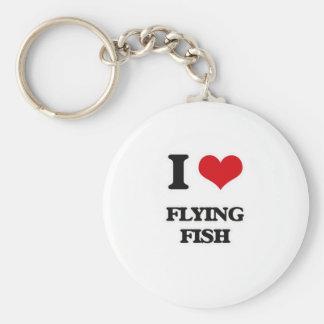 I Liebe-Fliegen-Fische Schlüsselanhänger