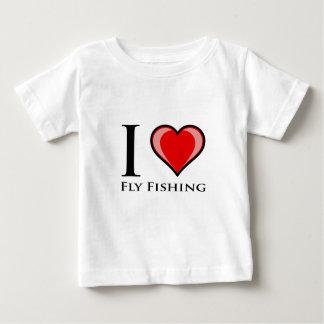 I Liebe-Fliegen-Fischen Baby T-shirt