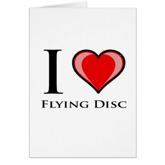 I Liebe-fliegendes Disc Karte