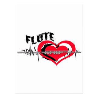 I Liebe-Flöten-Herz Postkarte
