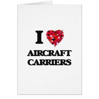 I Liebe-Flugzeugträger Grußkarte