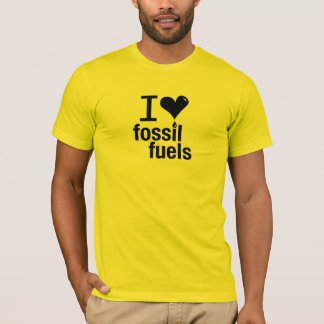 I Liebe-Fossilienbrennstoff-T - Shirt