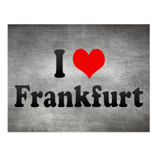 I Liebe Frankfurt, Deutschland Postkarte