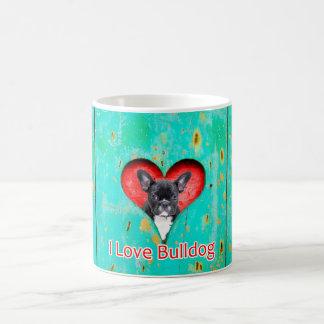 I Liebe-französische Bulldogge 11 Unze-Tasse Kaffeetasse
