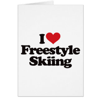 I Liebe-Freistil-Skifahren Karte