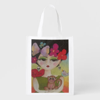 I Liebe Frida Wiederverwendbare Einkaufstasche