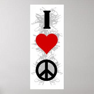 I Liebe-Frieden Poster