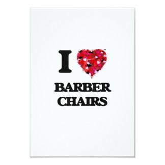 I Liebe-Friseur-Stühle 8,9 X 12,7 Cm Einladungskarte