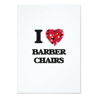 I Liebe-Friseur-Stühle 12,7 X 17,8 Cm Einladungskarte