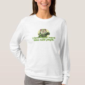 I Liebe-Frösche mehr als die meisten Leute. T - T-Shirt