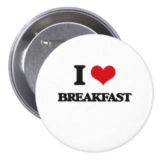 I Liebe-Frühstück Anstecknadelbuttons