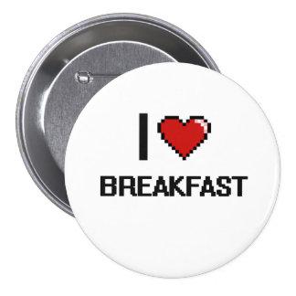 I Liebe-Frühstück Runder Button 7,6 Cm