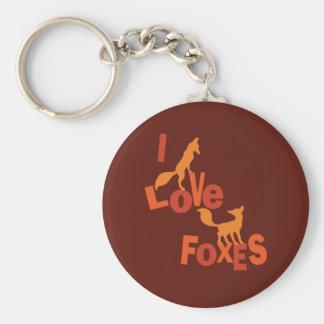 I Liebe-Füchse Schlüsselanhänger