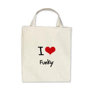 I Liebe Funky Leinentasche
