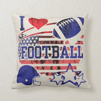 I Liebe-Fußball (amerikanischer Fußball) Kissen