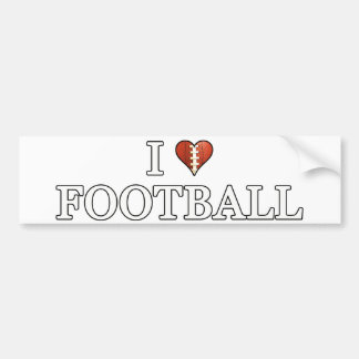 I Liebe-Fußball Autoaufkleber