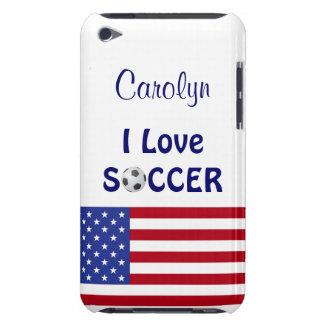 I Liebe-Fußball/die Flagge der Frauen/der iPod Touch Cover