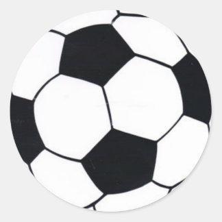 I LIEBE-FUSSBALL (FUSSBALL) RUNDER AUFKLEBER