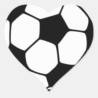 I Liebe-Fußball Herz Sticker