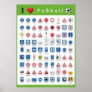 I Liebe Fußball Plakatdrucke