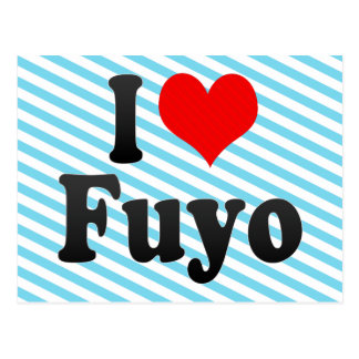 I Liebe Fuyo, Korea Postkarte